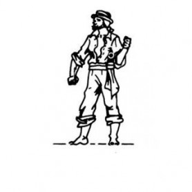 Amati 8001 Figur, sjöman, omålad, metall, höjd 22 mm, 1 st