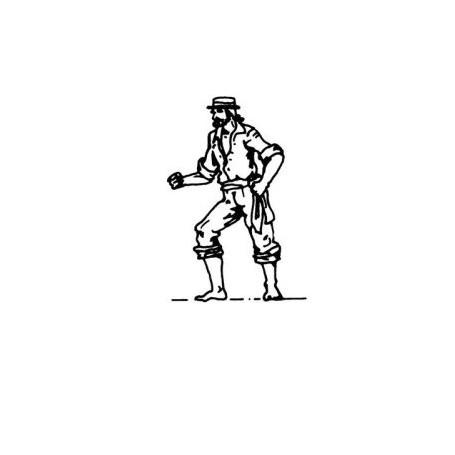 Amati 8002 Figur, sjöman, omålad, metall, höjd 22 mm, 1 st