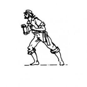 Amati 8003 Figur, sjöman, omålad, metall, höjd 22 mm, 1 st