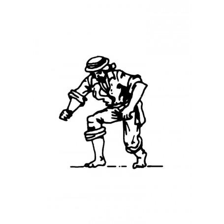 Amati 8004 Figur, sjöman, omålad, metall, höjd 22 mm, 1 st