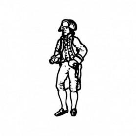 Amati 8005.01 Figur, sjöman, omålad, metall, höjd 25 mm, 1 st