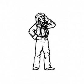 Amati 8005.02 Figur, sjöman, omålad, metall, höjd 25 mm, 1 st