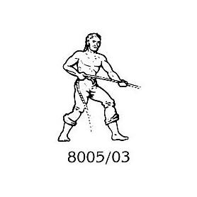 Amati 8005.03 Figur, sjöman, omålad, metall, höjd 25 mm, 1 st