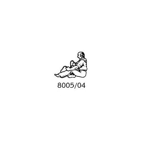 Amati 8005.04 Figur, sjöman, omålad, metall, höjd 25 mm, 1 st