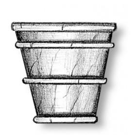 Amati 6024 Vas i trä, höjd 12 mm, 3 st