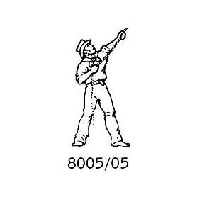 Amati 8005.05 Figur, sjöman, omålad, metall, höjd 25 mm, 1 st