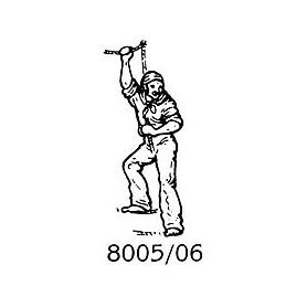 Amati 8005.06 Figur, sjöman, omålad, metall, höjd 25 mm, 1 st