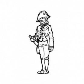 Amati 8008.01 Figur, sjöman, omålad, metall, höjd 35 mm, 1 st