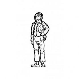 Amati 8008.02 Figur, sjöman, omålad, metall, höjd 35 mm, 1 st