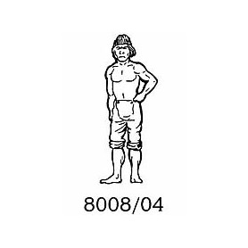 Amati 8008.04 Figur, sjöman, omålad, metall, höjd 35 mm, 1 st