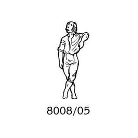 Amati 8008.05 Figur, sjöman, omålad, metall, höjd 35 mm, 1 st
