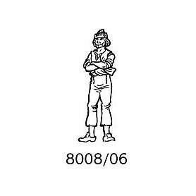 Amati 8008.06 Figur, sjöman, omålad, metall, höjd 35 mm, 1 st