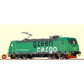 Brawa 43966.1 Ellok klass RE 1428 Traxx 'Green Cargo' OBS!!, stegar avbrutna från kåpa