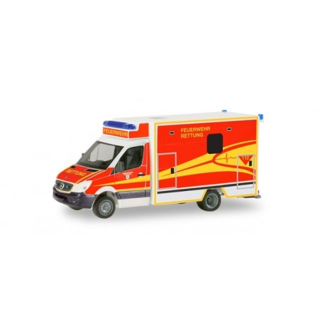 Herpa 094214 Mercedes-Benz Sprinter Fahrtec RTW 'Ingolstadt fire department'