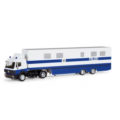 Herpa 309615 Mercedes-Benz SK box semitrailer 'Saxony Police Department | Command Vehicle'