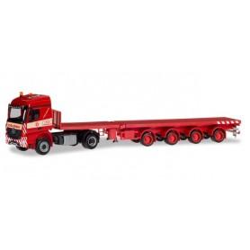"Herpa 309653 Mercedes-Benz Arocs teletrailer-truck ""Colonia"""