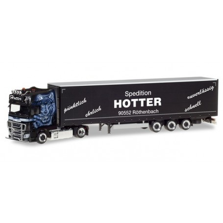 Herpa 309707 DAF XF SSC Euro 6 curtain canvas semitrailer 'Hotter'