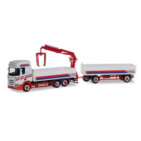 Herpa 309714 Scania CR high Roof Pick-up truck with loading crane 'Spedition Fürmetz'