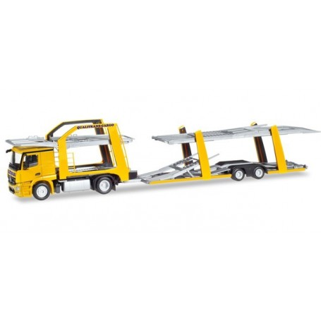 Herpa 309790 Mercedes-Benz Actros Eurolohr car Transporter vehicle 'Qualitrans Cargo' (HU)
