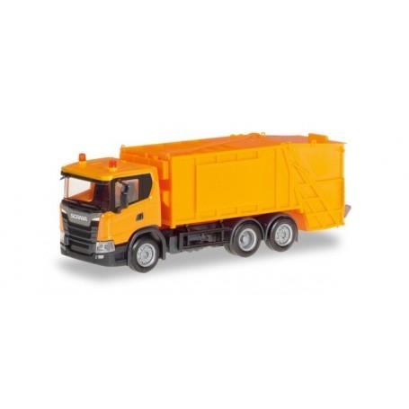 Herpa 309837 Scania CG 17 garbage truck, municipal orange
