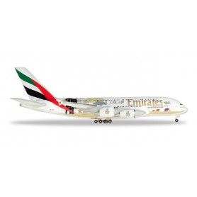 Herpa 532723 Flygplan Emirates Airbus A380 'United for Wildlife' (No.2)