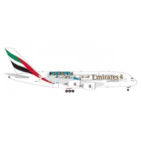 Herpa Wings 559508 Flygplan Emirates Airbus A380 'Real Madrid (2018)'
