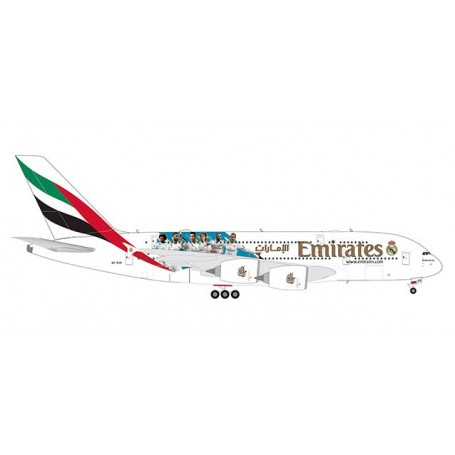 Herpa Wings 559508 Flygplan Emirates Airbus A380 'Real Madrid (2018)'