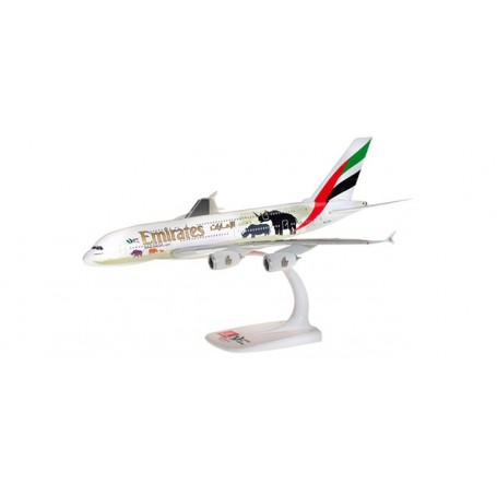 Herpa 612180 Flygplan Emirates Airbus A380 'United for Wildlife' (No.2)