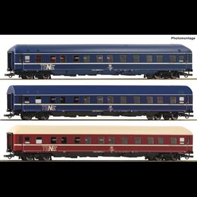 """Roco 74129 Vagnsset med 3 sovvagnar typ DB """"TEN"""""""