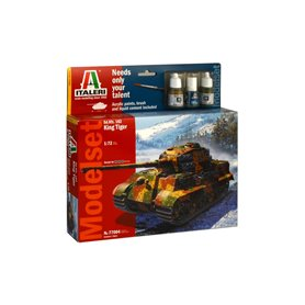 "Italeri 77004 Tanks Sd.Kfz.182 King Tiger ""Gift Set"""