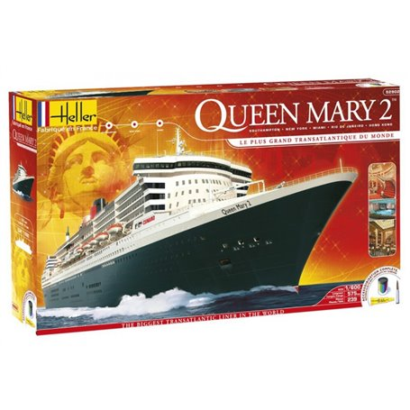 "Heller 52902 Fartyg Queen Mary 2 ""Gift Set"""