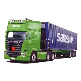 "AMW 53650 Bil & Containertrailer Scania ""09"" Topline/Aero ""Bring/Samskip"