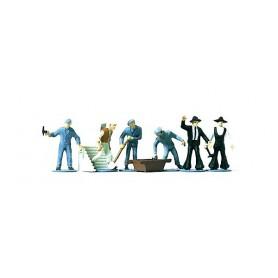 Merten H0 2337 Murare och arbetare, 6 st