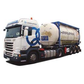 "AMW 53658 Bil & Tanktrailer Scania ""09"" Highline Swapbody ""Haanpaa"""