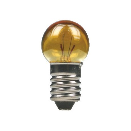 Beli-Beco 5046G Glödlampa, gul, 19 Volt, E5.5 Sockel, 60mA, glas diameter 8 mm, 1 st