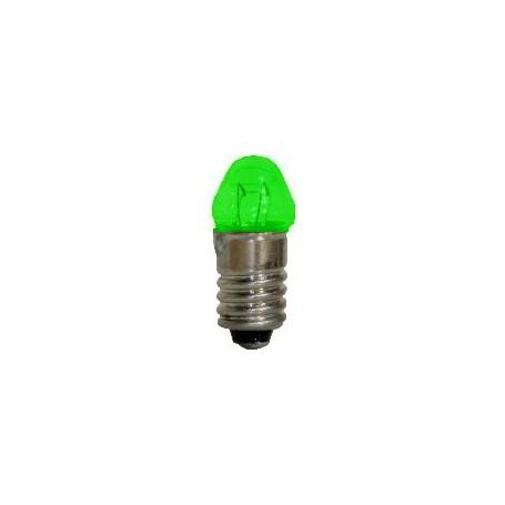 Beli-Beco 9047E Glödlampa, konisk, grön, 19 Volt, E5.5 Sockel, 60mA, glas diameter 6 mm, 1 st