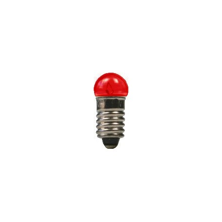 Beli-Beco 9046D Glödlampa, röd, 19 Volt, E5.5 Sockel, 60mA, glas diameter 6 mm, 1 st