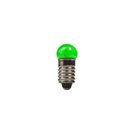 Beli-Beco 9046E Glödlampa, grön, 19 Volt, E5.5 Sockel, 60mA, glas diameter 6 mm, 1 st