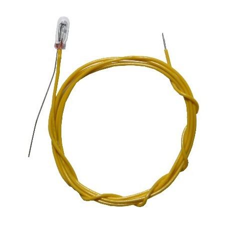 Beli-Beco W3/8 Glödlampa, klar, 3V, med 2 kablar, 18mA, glas diameter 1.35 mm, 1 st