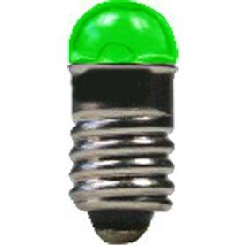 Beli-Beco 9070E Glödlampa, grön, 19 Volt, E5.5 Sockel, 60mA, glas diameter 5 mm, 1 st