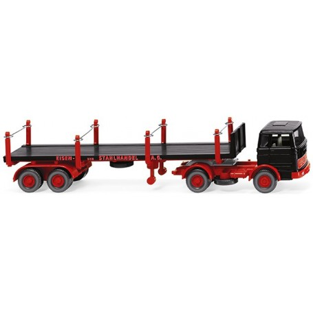 Wiking 51845 Stanchion trailer truck (MB 1620)