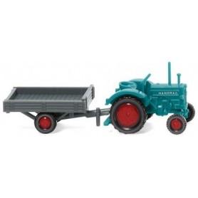 Wiking 95304 Traktor Hanomag R16 med släp