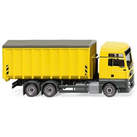 Wiking 67205 Roll-off dump (MAN TGX EURO 6c|Meiller) - zinc yellow