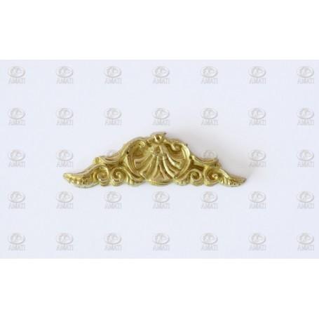 Amati 5362.03 Dekoration, metall, mått 40 x 12 mm, 10 st