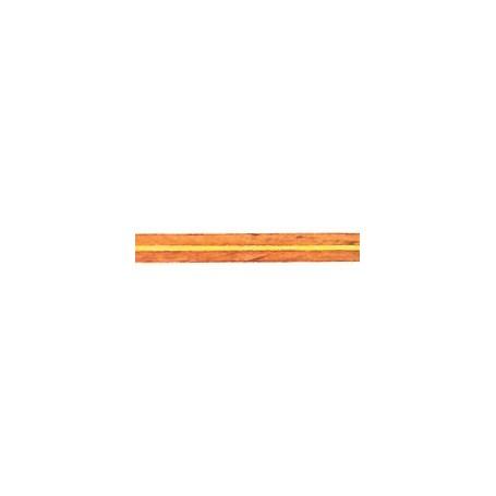 Amati 5565.01-204 Stripes med inlägg i olika träslag, längd 250 mm, bredd 5 mm, 1 st