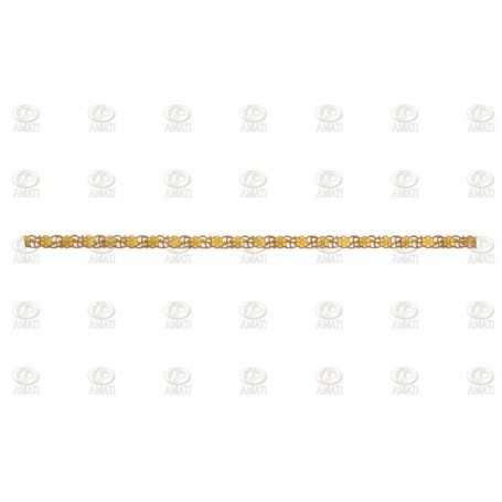 Amati 5500.10 Mässingdekoration, längd 250 mm, bredd 8 mm, 1 st