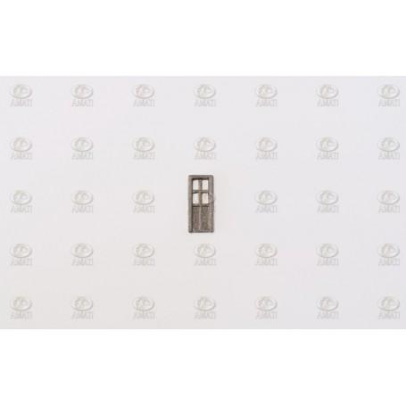 Amati 5105.01 Dörrar, metall, mått 6.5 x 15 mm, 10 st
