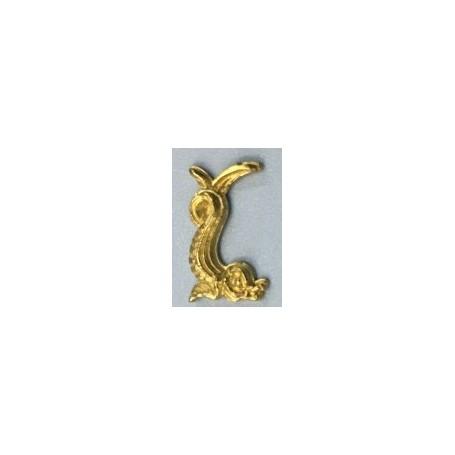 Amati 5352.23 Dekoration, metall, mått 15 x 12 mm, 10 st