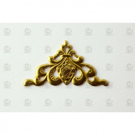 Amati 5530.01 Dekoration, metall, mått 27 x 14 mm, 10 st