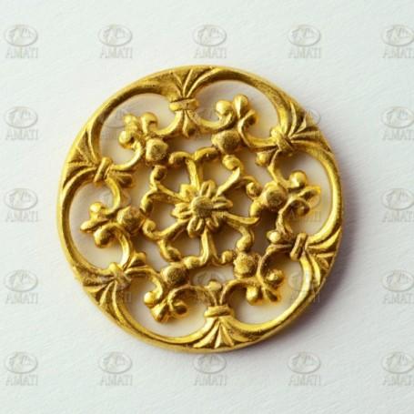 Amati 5530.03 Dekoration, metall, mått 21 mm diameter, 5 st